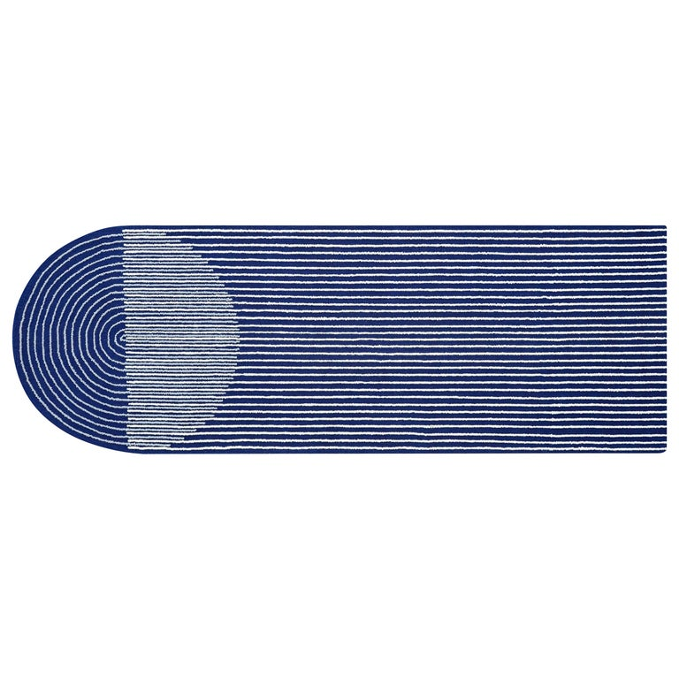 GAN Hand Tufted Ply Rug in Blue by MUT Design For Sale