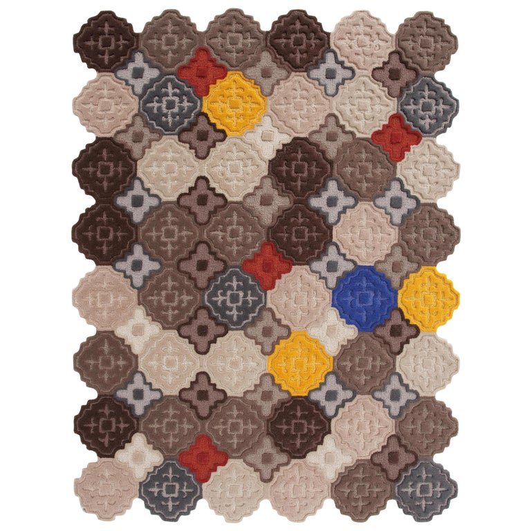 GAN Hidra Geometric Rug in Multi-Color by Jose A. Gandía and Blasco For Sale