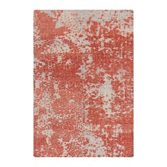 GAN Japan Rug in Hand Knotted Coral and White Wool