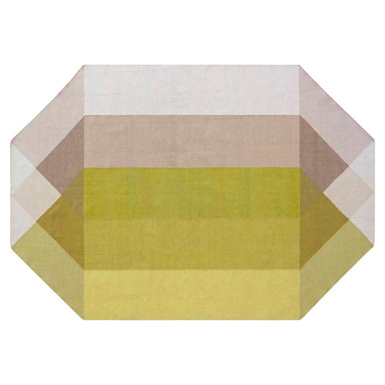 For Sale: Multi (Pink Yellow) GAN Kilim Diamond Large Rug by Charlotte Lancelot