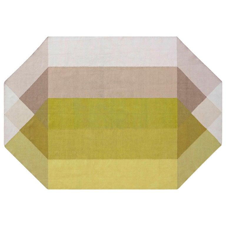 For Sale: Multi (Pink Yellow) GAN Kilim Diamond Small Rug by Charlotte Lancelot