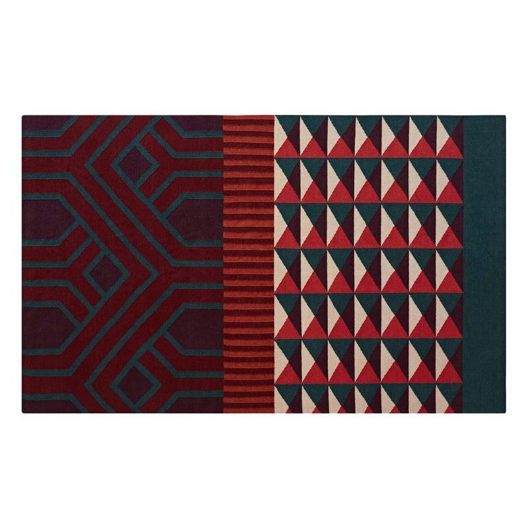 For Sale: Red GAN Kilim Ndebele Large Rug by Sandra Figuerola