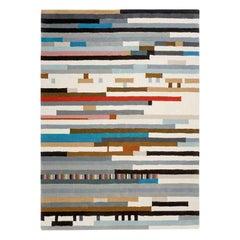GAN Lepark Geometric Rug in Multi-Color by Enblanc