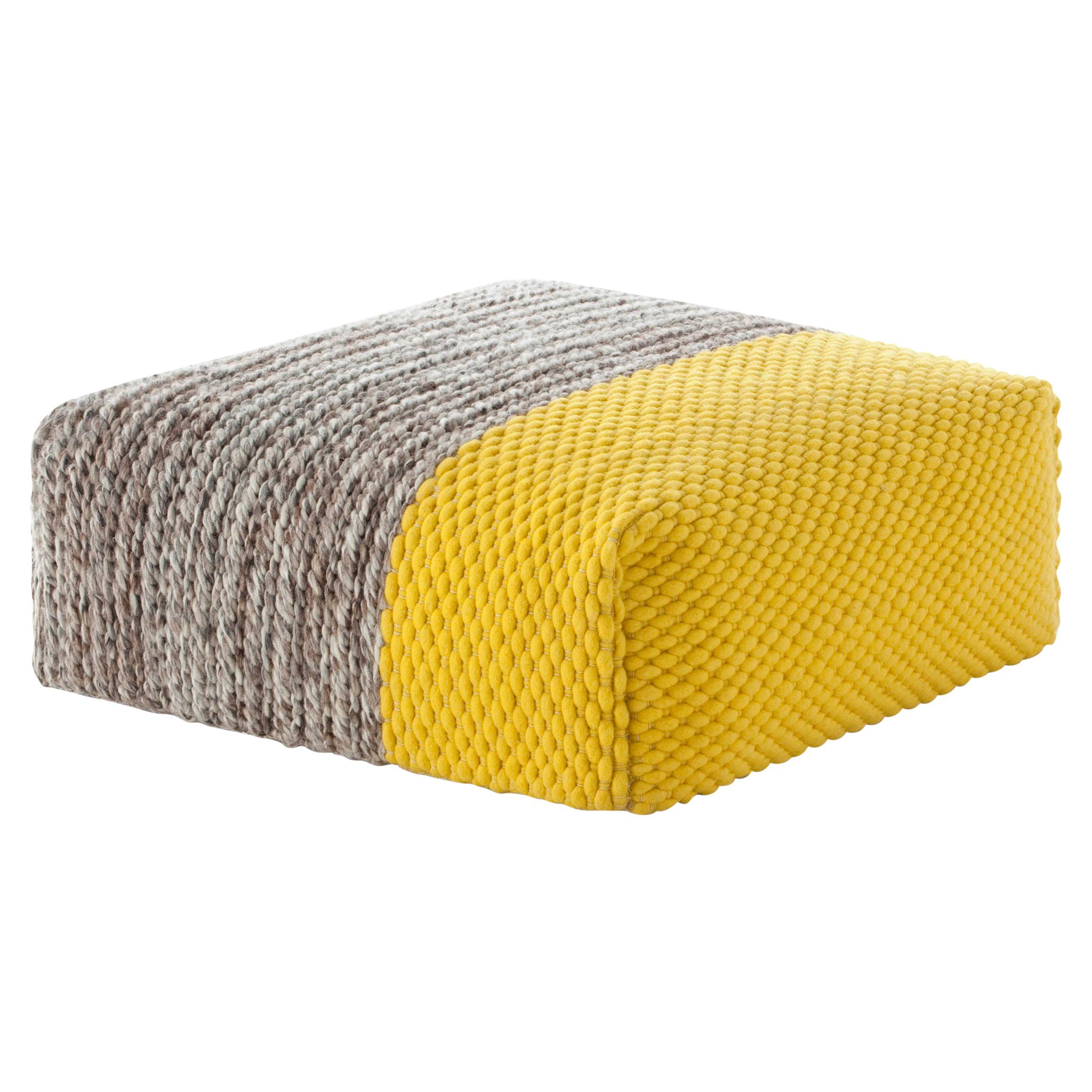 GAN Mangas Space Square Pouf Plait in Wool