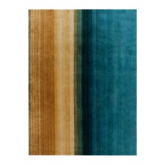 GAN Paysages Rug in Hand Knotted Multi-Color Wool by Sebastien Cordoleani