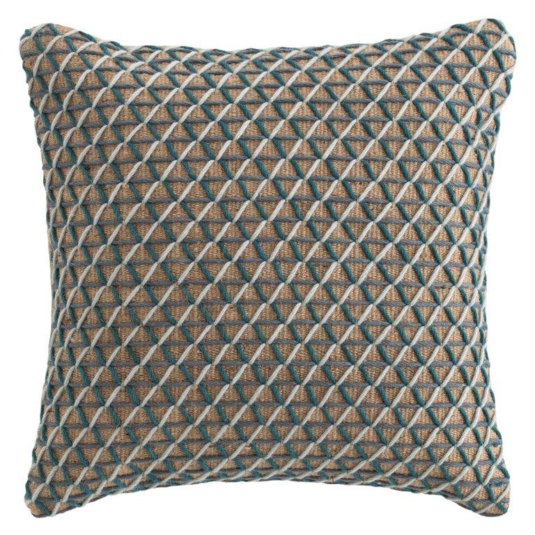 For Sale: undefined (Blue) GAN Raw Large Pillow in Jute by Borja García