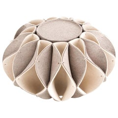 GAN Ruff High Pouf in Wool by Romero & Vallejo
