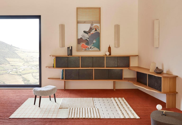 Neri&Hu questions the sofa typology. Once the normal typology of a piece of furniture is broken down into its components, seating and rug become a single space.  The back component draws from the origins of GAN as a textile brand, by referencing