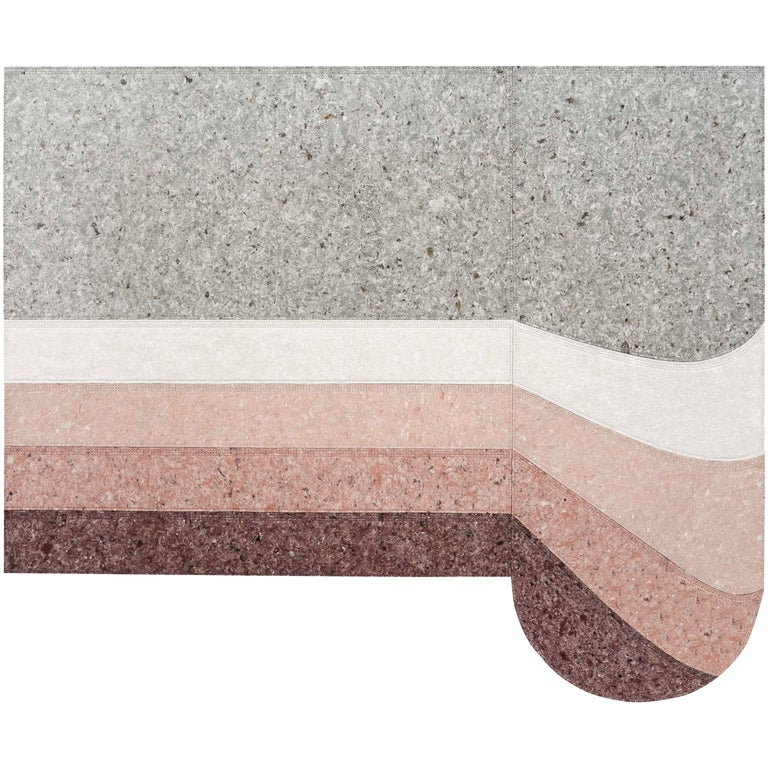 For Sale: Red (Burgundy) GAN Spaces Nuances Round Rug by Patricia Urquiola