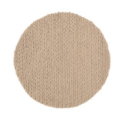 GAN Trenzas Round Rug in Braided Wool