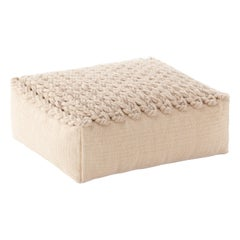 GAN Trenzas Small Square Pouf with Braided Seat