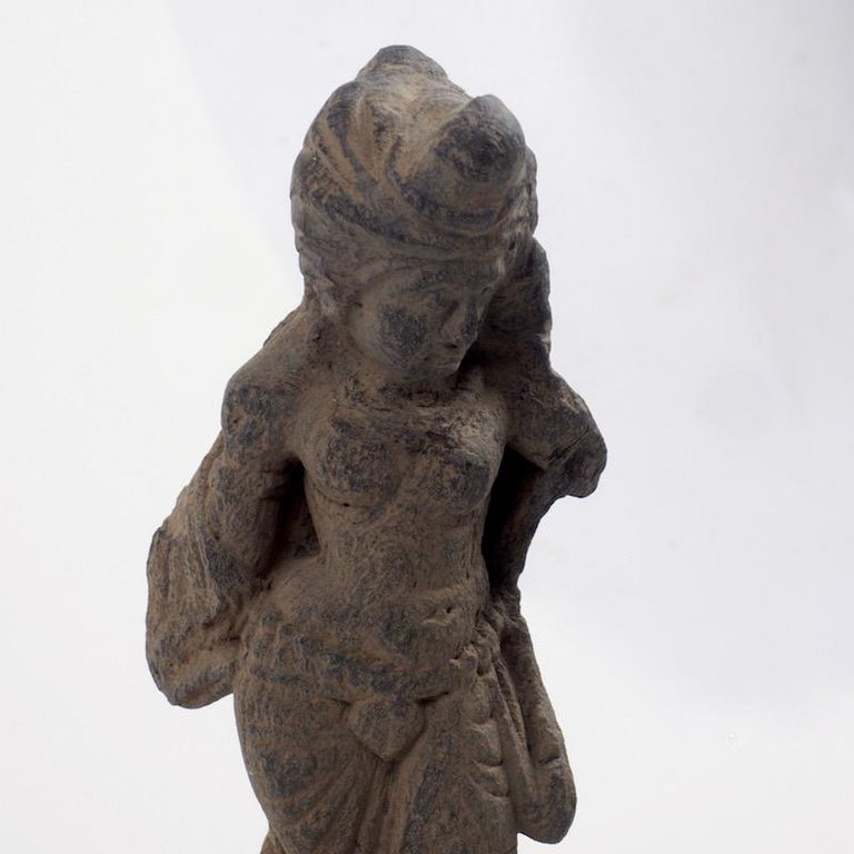 18th Century and Earlier Gandhara Female Deity, 2nd-3rd Century For Sale