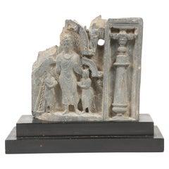 Gandharan Frieze Fragment in Carved in Grey Schist, 2nd-3rd Century