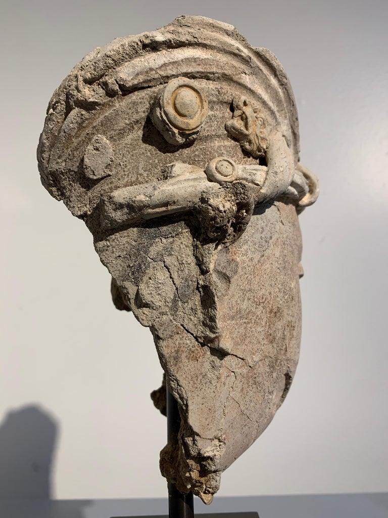 Gandharan Stucco Head of a Bodhisattva, Region of Hadda, 3rd-5th Century For Sale 7