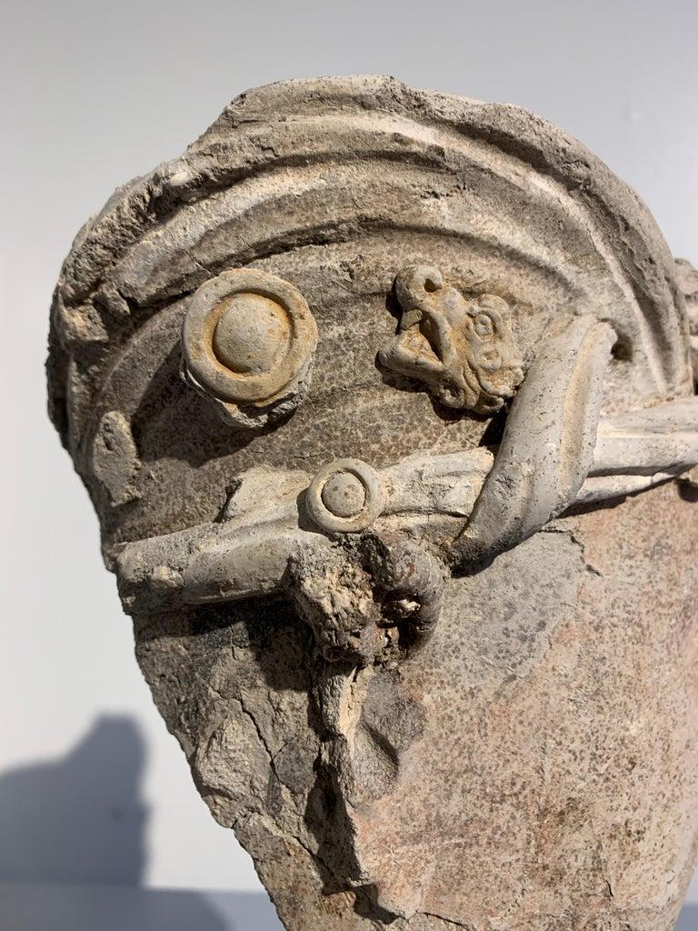 Gandharan Stucco Head of a Bodhisattva, Region of Hadda, 3rd-5th Century For Sale 8