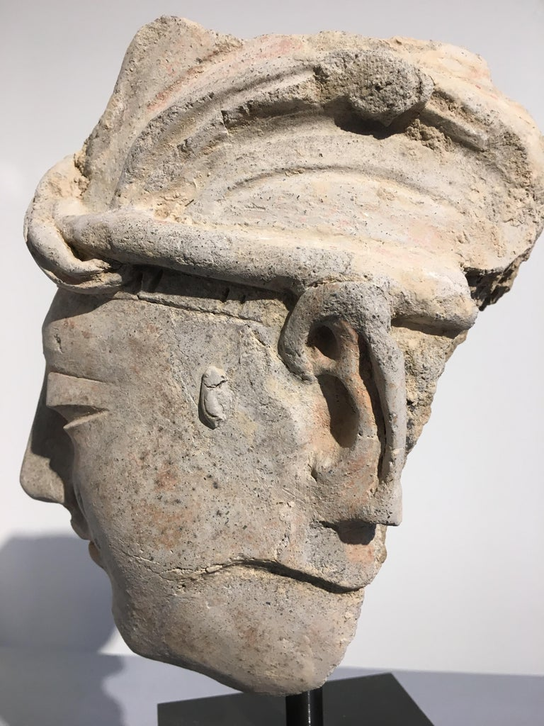 Gandharan Stucco Head of a Donor, 4th-5th Century For Sale 4