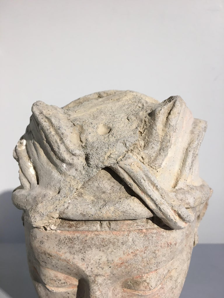 Gandharan Stucco Head of a Donor, 4th-5th Century For Sale 5