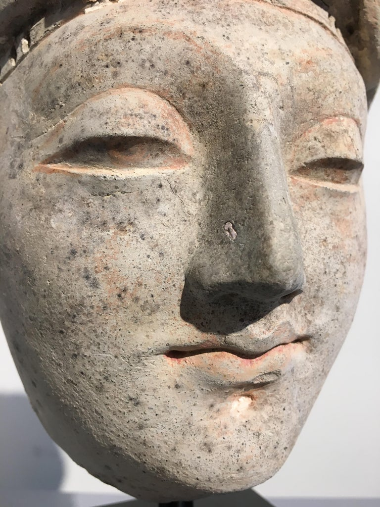 Gandharan Stucco Head of a Donor, 4th-5th Century For Sale 7