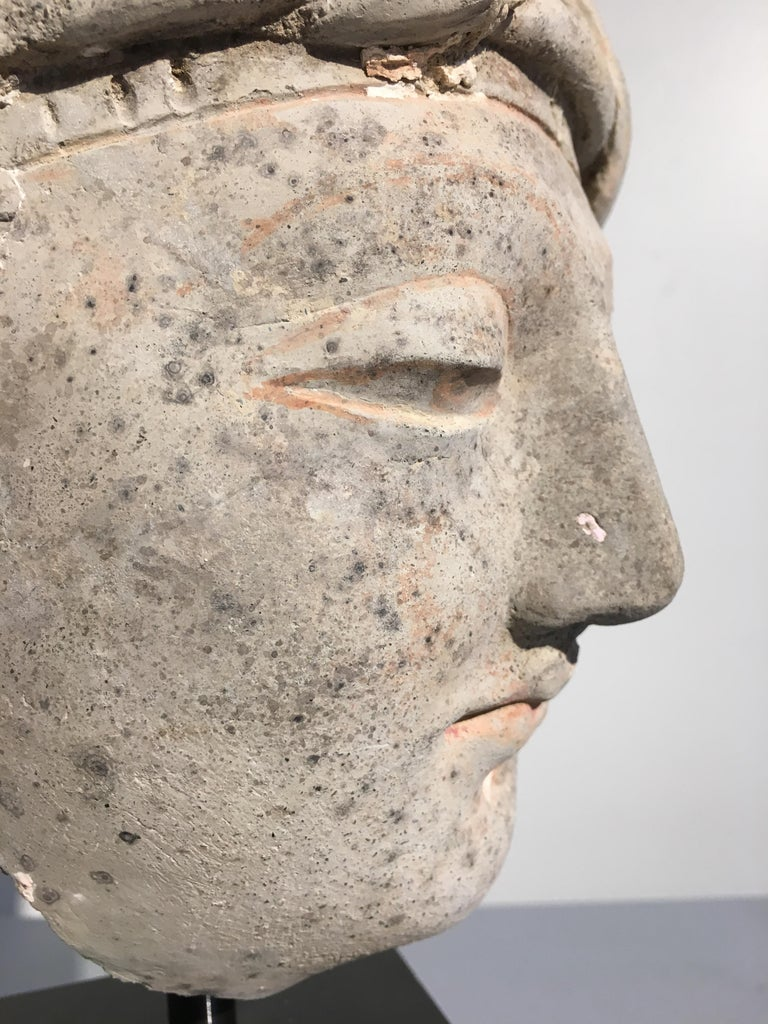 Gandharan Stucco Head of a Donor, 4th-5th Century For Sale 1