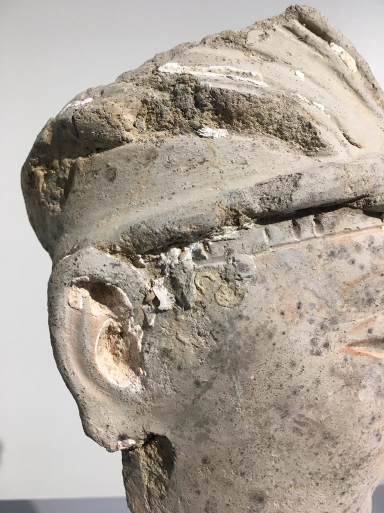 Gandharan Stucco Head of a Donor, 4th-5th Century For Sale 2
