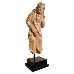 Gandharan Terracotta Figure of the Bodhisattva Maitreya, 4th-6th Century