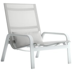 Gandia Blasco Stack High Back Lounge Chair in Aluminum by Borja Garcia
