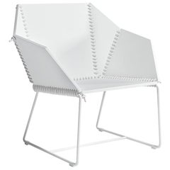 Gandia Blasco Textile Club Armchair in Steel by Ana Llobet