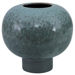 Gandra Vase in Gray and Green Ceramic by CuratedKravet