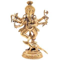 Ganesh Deity Figurine, Mongolia, 18th-19th Century
