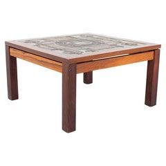 Gangso Mobler Mid Century Teak and Tile Side End Table