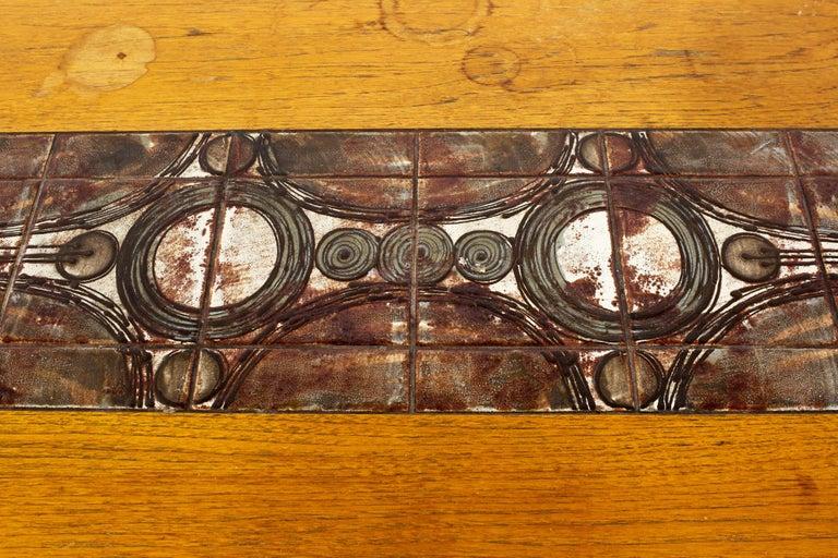 Gangso Mobler Mid Century Teak Tile Top Dropside Dining Table For Sale 1