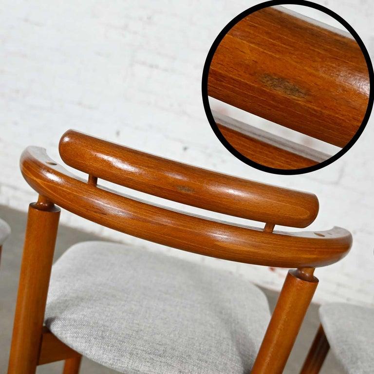 Gangso Mobler Scandinavian Modern Teak Counter Height Barstools Set of 3 6