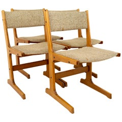 Gangso Mobler Style Mid Century Teak Dining Chairs, Set of 4