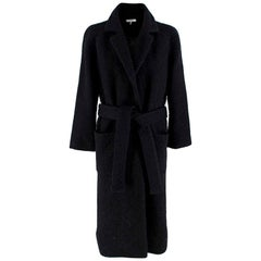 Ganni Boucle Fenn Long Coat Black DK34