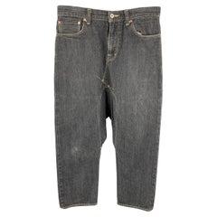 GANRYU by COMME des GARCONS Size S Charcoal Cotton Drop-Crotch Jeans