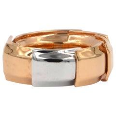 Garavelli 18 Karat Rose and White Gold Drago Collection Ring