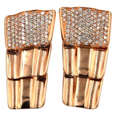 Garavelli 18 Karat Rose Gold Diamond Drago Collection Earrings