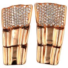 Garavelli 18 Karat Rose Gold Diamond Drago Collection Earrings
