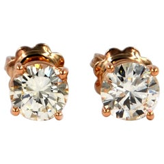 Garavelli 18 Karat Rose Gold Diamonds Stud Earrings