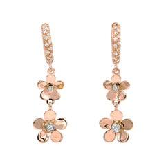 Garavelli 18 Karat Rose Gold Flower Garavelli Earrings
