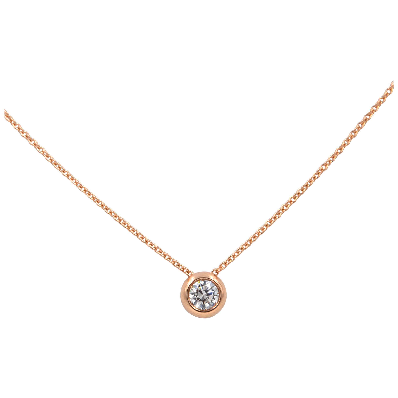 Garavelli 18 Karat Rose Gold Pure Diamond Giotto Pendant