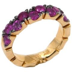 Garavelli 18 Karat Rose Gold Rubies Coil Ring