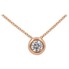 Garavelli 18 Karat Rose Gold White Diamond Giotto Pendant