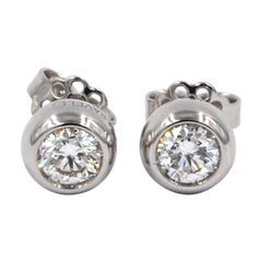 Garavelli 18 Karat White Diamond Giotto Stud Earrings