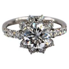 Garavelli 18 Karat White Gold Diamond Engagement Ring