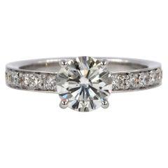 Garavelli 18 Karat White Gold Diamonds Engagement Ring