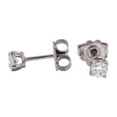 Garavelli 18 Karat White Gold Diamonds Stud Earrings