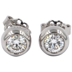 Garavelli 18 Karat White Gold Flawless Diamond Giotto Stud Earrings