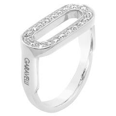 Garavelli 18 Karat White Gold Stirrups Collection Ring