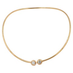 Garavelli Giotto Collection Yellow Gold Diamond Choker Necklace